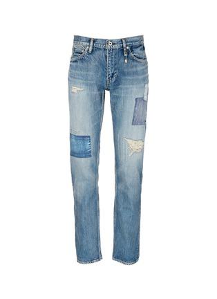 首图 - 点击放大 - FDMTL - TRACE磨破拼贴水洗修身牛仔裤