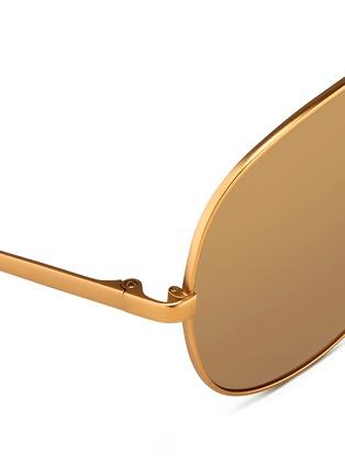 细节 - 点击放大 - LINDA FARROW - 金属细框飞行员太阳眼镜