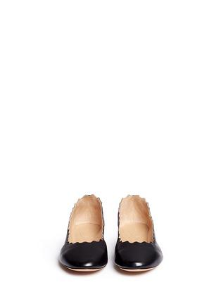 正面 - 点击放大 - CHLOÉ - LAUREN波浪鞋口小羊皮平底鞋