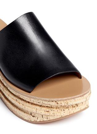 细节 - 点击放大 - CHLOÉ - CAMILLE小牛皮坡跟穆勒鞋