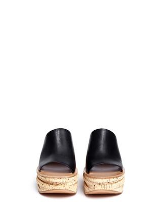正面 - 点击放大 - CHLOÉ - CAMILLE小牛皮坡跟穆勒鞋