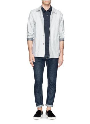 模特儿示范图 - 点击放大 - SUNSPEL - 纯棉polo衫