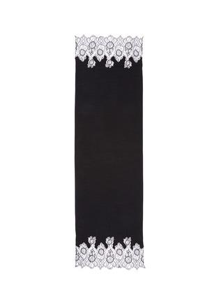 首图 - 点击放大 - VALENTINO - 花卉蕾丝拼接混莫代尔围巾