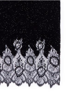 细节 - 点击放大 - VALENTINO - Valentino Garavani蕾丝拼接珠饰混羊绒围巾