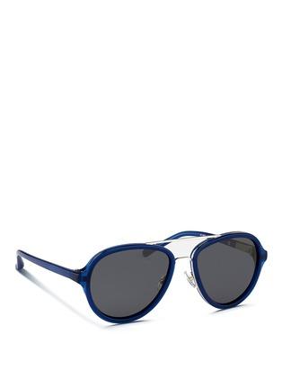 模特示范图 - 点击放大 - 3.1 PHILLIP LIM - 双鼻梁飞行员太阳眼镜