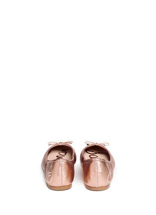 背面 - 点击放大 - SAM EDELMAN - FELICIA真皮蝴蝶结芭蕾平底鞋