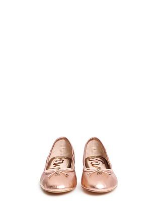 正面 -点击放大 - SAM EDELMAN - FELICIA真皮蝴蝶结芭蕾平底鞋