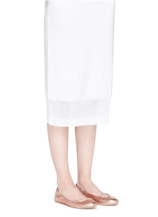 模特儿示范图 - 点击放大 - SAM EDELMAN - FELICIA真皮蝴蝶结芭蕾平底鞋
