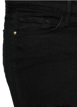 细节 - 点击放大 - FRAME DENIM - Le Skinny de Jeanne磨破混棉牛仔裤