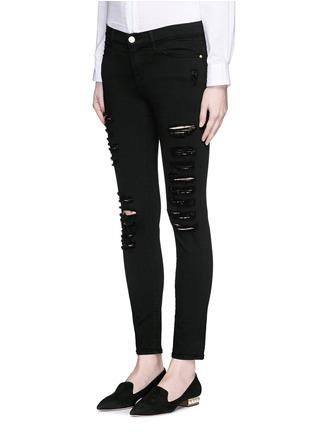 正面 -点击放大 - FRAME DENIM - Le Skinny de Jeanne磨破混棉牛仔裤