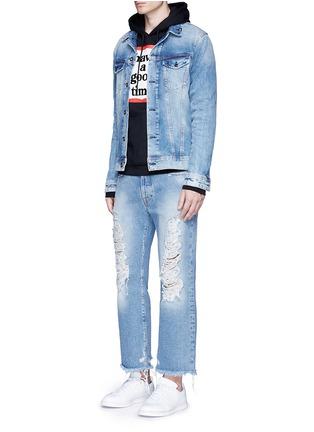 模特儿示范图 - 点击放大 - HAVE A GOOD TIME - 品牌标志纯棉卫衣
