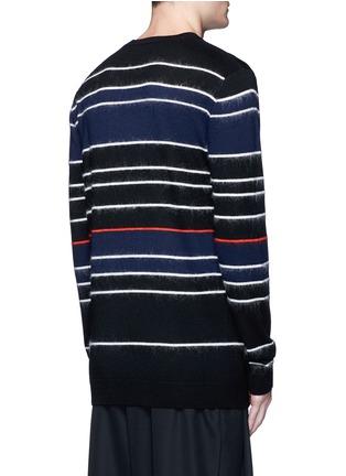 背面 - 点击放大 - MCQ SWALLOW - 毛感条纹混羊毛针织衫