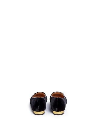 背面 - 点击放大 - 201890246 - INCY KITTY儿童款猫咪刺绣天鹅绒平底鞋