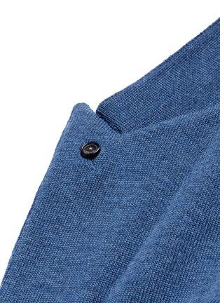 细节 - 点击放大 - LARDINI - 混色羊毛针织西服外套
