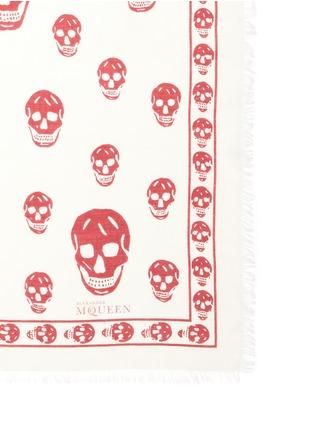 细节 - 点击放大 - Alexander McQueen - 莫代尔混丝骷髅头围巾