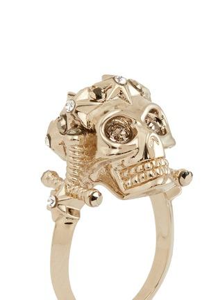 细节 - 点击放大 - Alexander McQueen - 星形皇冠骷髅头戒指