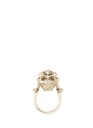 首图 - 点击放大 - Alexander McQueen - 星形皇冠骷髅头戒指
