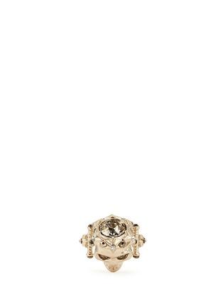 模特示范图 - 点击放大 - Alexander McQueen - 星形皇冠骷髅头戒指