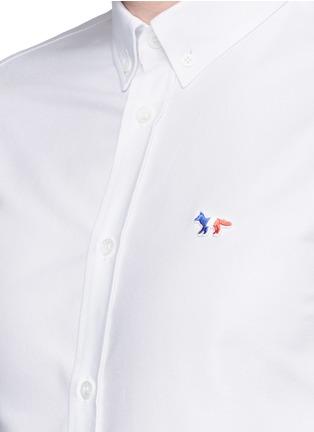 细节 - 点击放大 - MAISON KITSUNÉ - 狐狸装饰纯棉衬衫