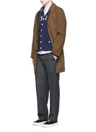 模特儿示范图 - 点击放大 - MAISON KITSUNÉ - 狐狸装饰纯棉衬衫