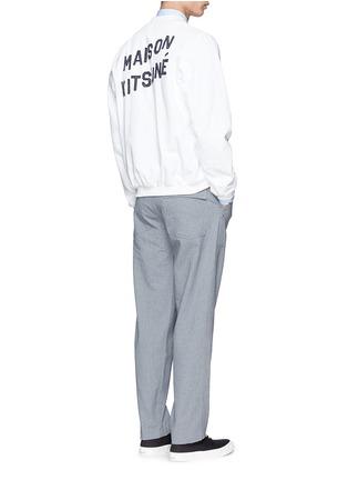模特示范图 - 点击放大 - MAISON KITSUNÉ - 纯棉牛仔棒球外套