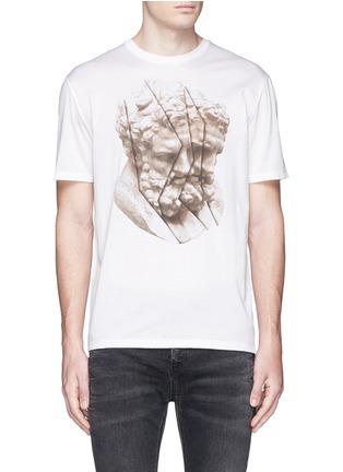 首图 - 点击放大 - NEIL BARRETT - 雕塑图案纯棉T恤
