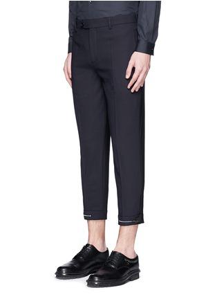 正面 -点击放大 - NEIL BARRETT - 拼色混羊毛长裤