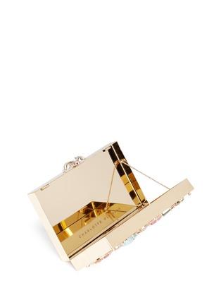 细节 - 点击放大 - CHARLOTTE OLYMPIA - 宝石装饰矩形手拿包