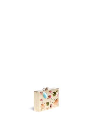 模特示范图 - 点击放大 - CHARLOTTE OLYMPIA - 宝石装饰矩形手拿包