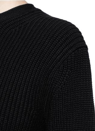 细节 - 点击放大 - ALEXANDER WANG - 镂空开衩搭带针织衫
