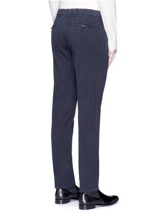 背面 - 点击放大 - LARDINI - ICPARIS人字纹棉质长裤