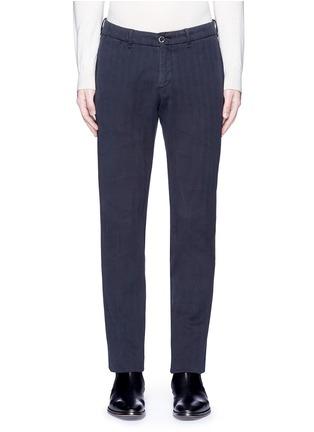 首图 - 点击放大 - LARDINI - ICPARIS人字纹棉质长裤