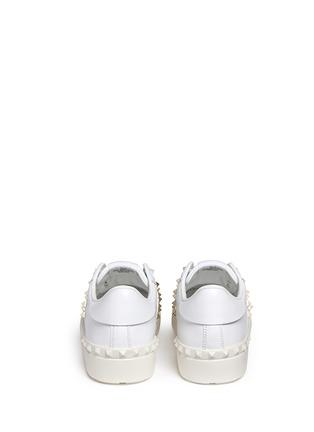 背面 - 点击放大 - Valentino - Rockstud Untitled中性款真皮铆钉运动鞋