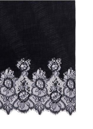 细节 - 点击放大 - Valentino - 蕾丝拼接羊绒围巾