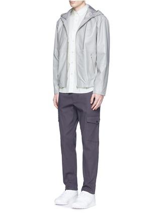模特儿示范图 - 点击放大 - rag & bone - 印花纯棉短袖衬衫