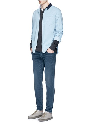 模特儿示范图 - 点击放大 - RAG & BONE - YOKOHAMA拼色纯棉衬衫