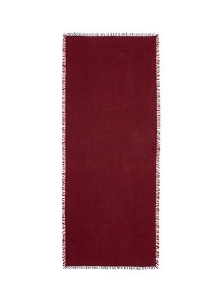 首图 - 点击放大 - FRANCO FERRARI - 单色须边羊绒混丝围巾