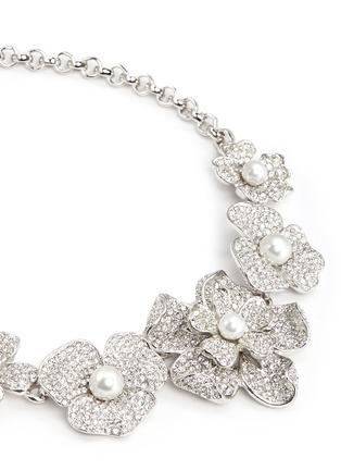 细节 - 点击放大 - Kenneth Jay Lane - 花卉造型仿水晶珍珠项链