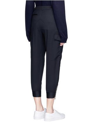 背面 - 点击放大 - STELLA MCCARTNEY - 锥形羊毛八分裤