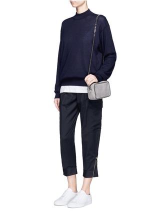 模特示范图 - 点击放大 - STELLA MCCARTNEY - 锥形羊毛八分裤