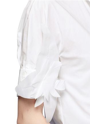 细节 - 点击放大 - DELPOZO - 花卉拼贴纯棉衬衫