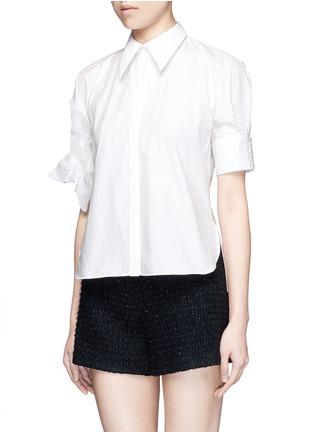 正面 -点击放大 - DELPOZO - 花卉拼贴纯棉衬衫
