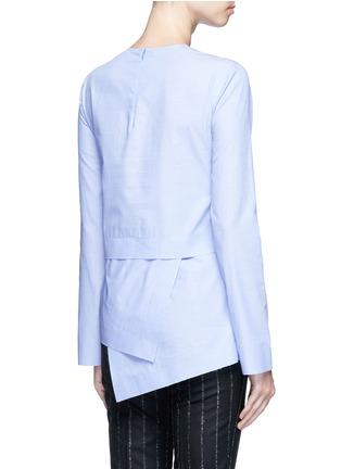 背面 - 点击放大 - CÉDRIC CHARLIER - 斜裁叠搭拼接衣摆纯棉上衣