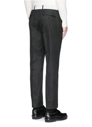背面 - 点击放大 - Alexander McQueen - 条带装饰长裤