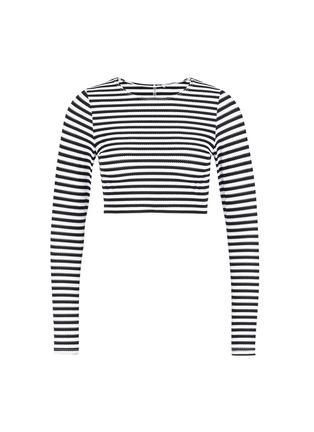 首图 - 点击放大 - VITAMIN A  - CANNES条纹图案短款防晒衣