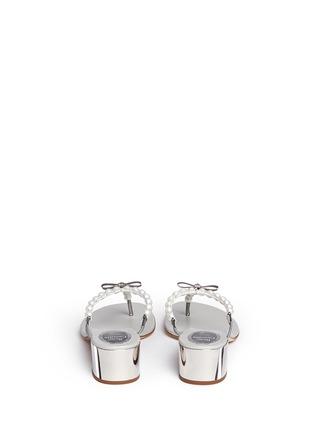 背面 - 点击放大 - RENÉ CAOVILLA - 人造珍珠夹脚粗跟凉鞋