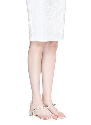 模特示范图 - 点击放大 - RENÉ CAOVILLA - 人造珍珠夹脚粗跟凉鞋