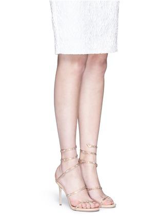 模特示范图 - 点击放大 - RENÉ CAOVILLA - 仿水晶细高跟凉鞋