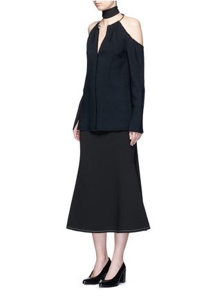 模特示范图 - 点击放大 - ELLERY - BEEDEE单色绉绸半身裙