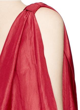 细节 - 点击放大 - ROSIE ASSOULIN - 条带装饰塔夫绸上衣